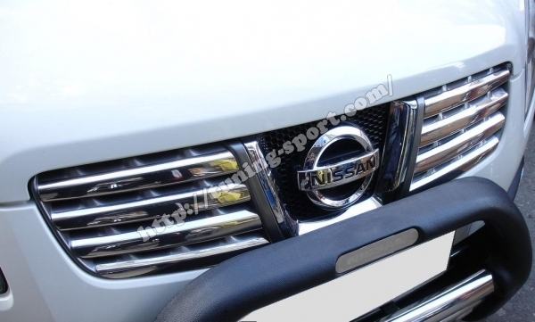 chrome grill for nissan qashqai tuning. Black Bedroom Furniture Sets. Home Design Ideas