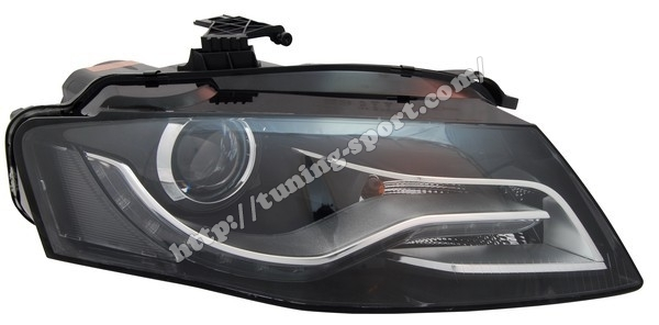 headlight bi xenon for audi a4 b8 8k right 8k0 941 030c. Black Bedroom Furniture Sets. Home Design Ideas