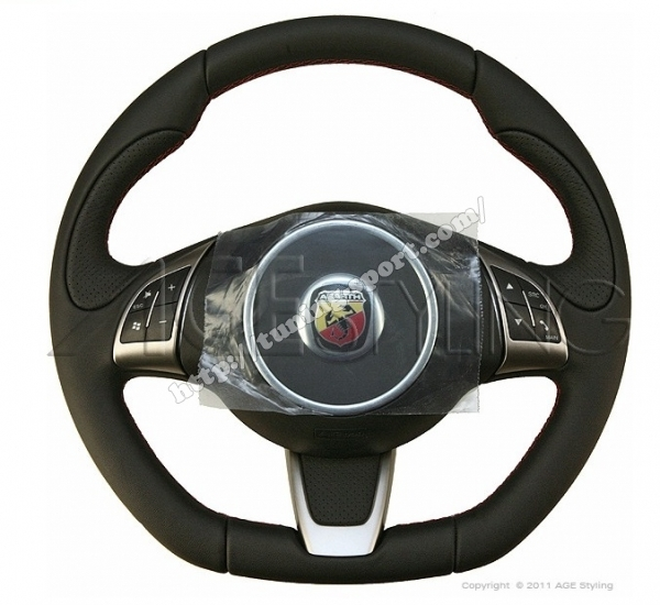 Fiat 500 Abarth Leather Steering Wheel Tuning Sport Com